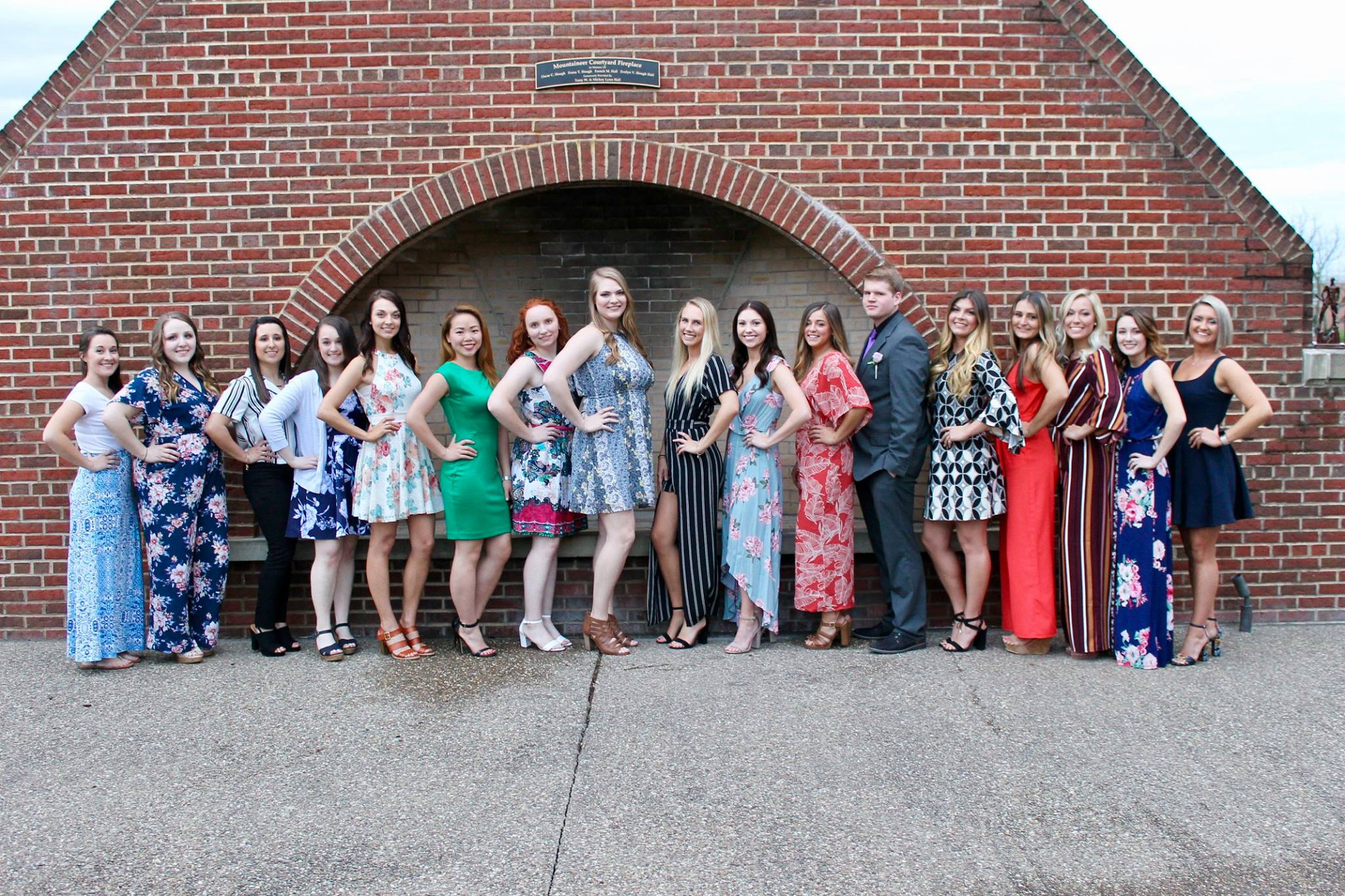 All seventeen students of the Dental Hygiene Class of 2019 pose at the Erickson Alumni Center.