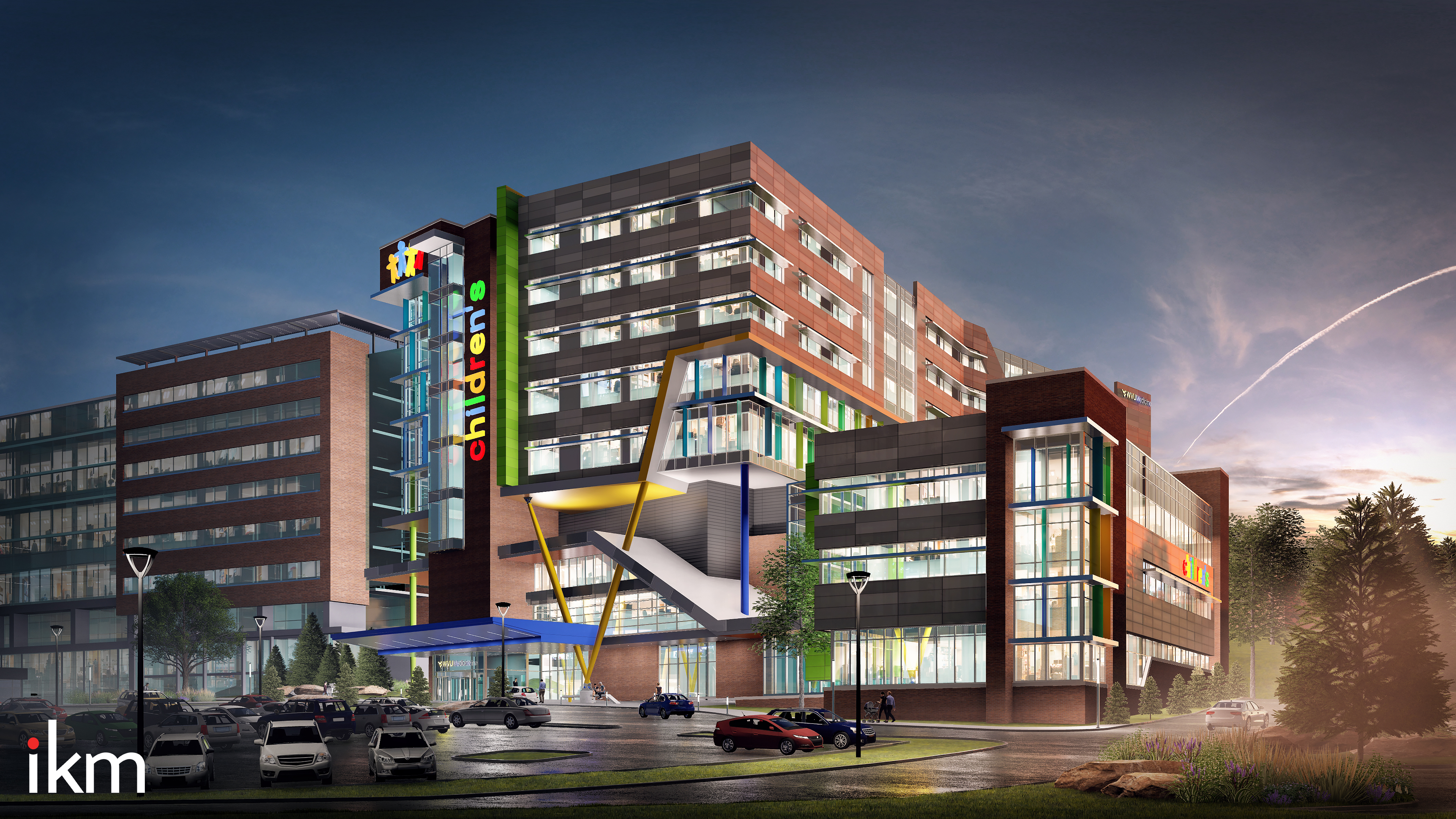 Artist's rendering of the new tower for WVU Medicine Children's
