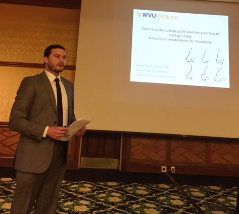 Dr. Adam Bender-Heine presenting at the WV AOHNS Meeting