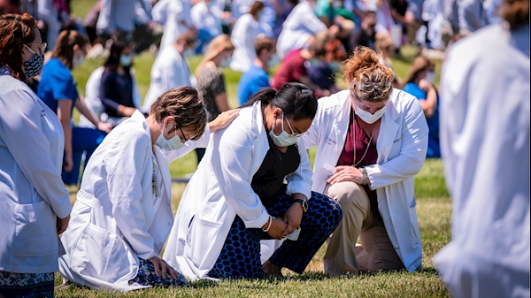 WVU in the News: 'White Coats for Black Lives' brings WVU Medicine workers together