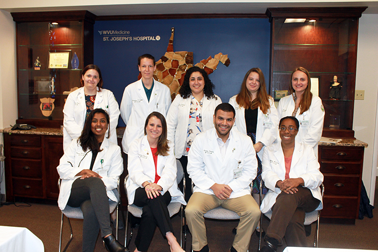 Third-year students from the West Virginia School of Osteopathic Medicine