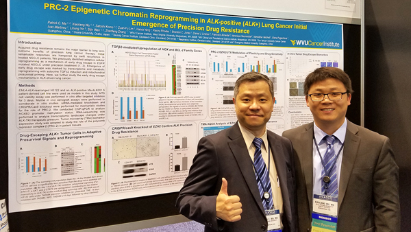 Patrick Ma lab presents research at ASCO meeting, Xiaoliang Wu wins Merit Award