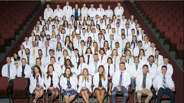 WVU medical students received white coats March 17