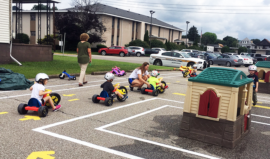 Kids participating in last year's Safety Town program