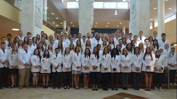 WVU Pharmacy students receive white coats