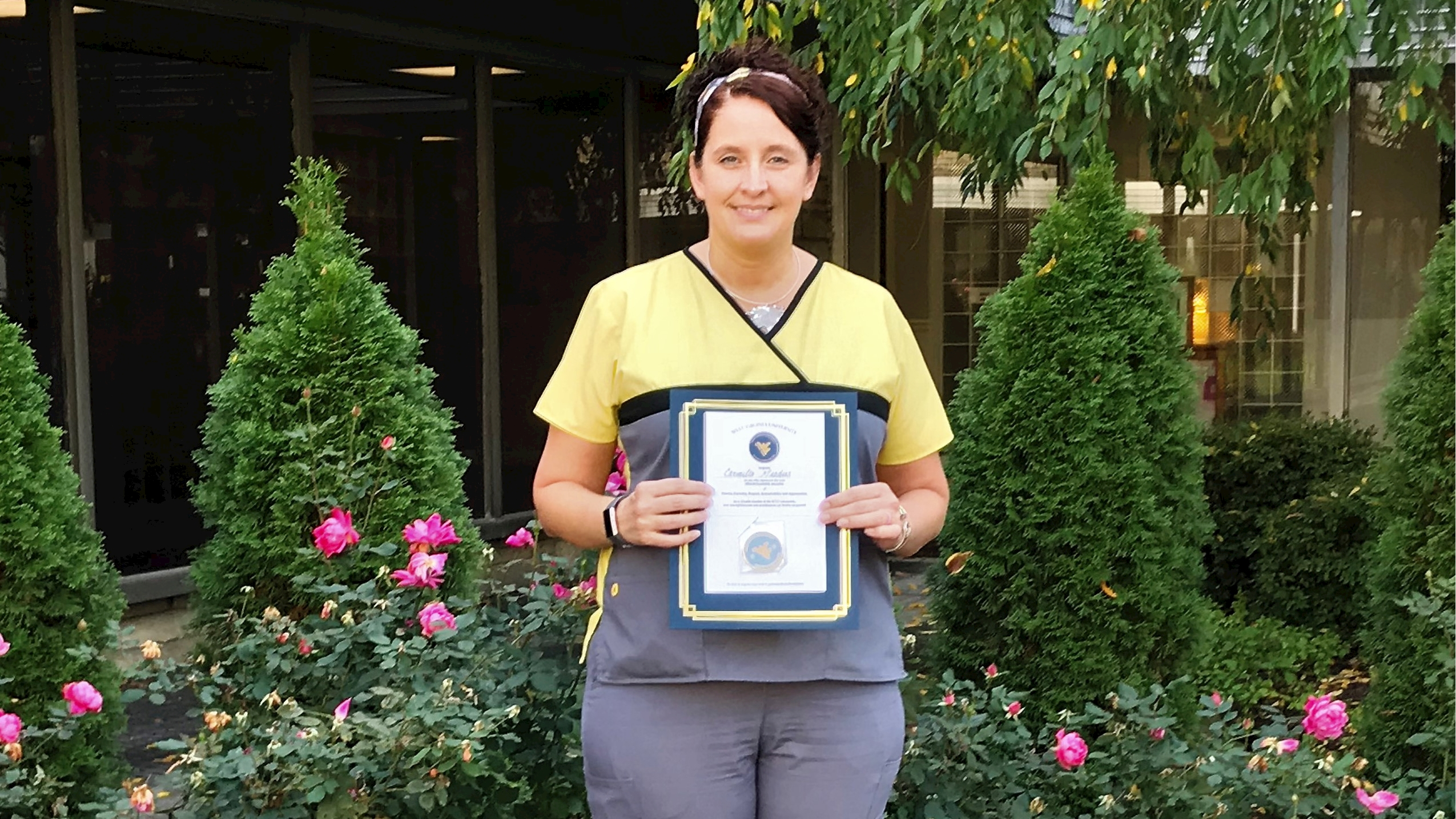 Carmella Meadows is a Mountaineer Value Coin recipient.