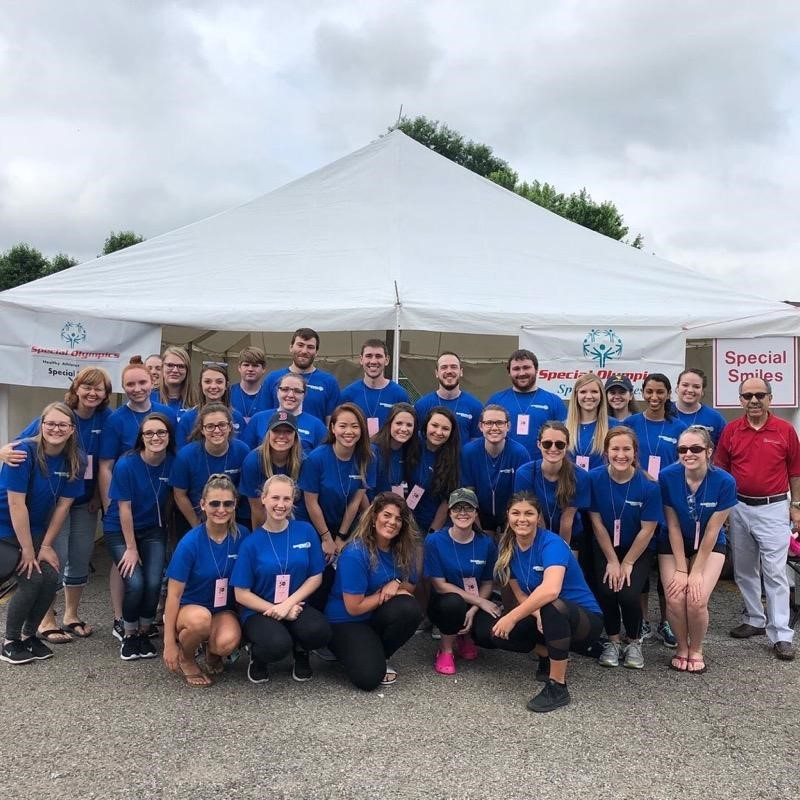 WVU School of Dentistry Students volunteer at West Virginia Special Olympics Summer Games.