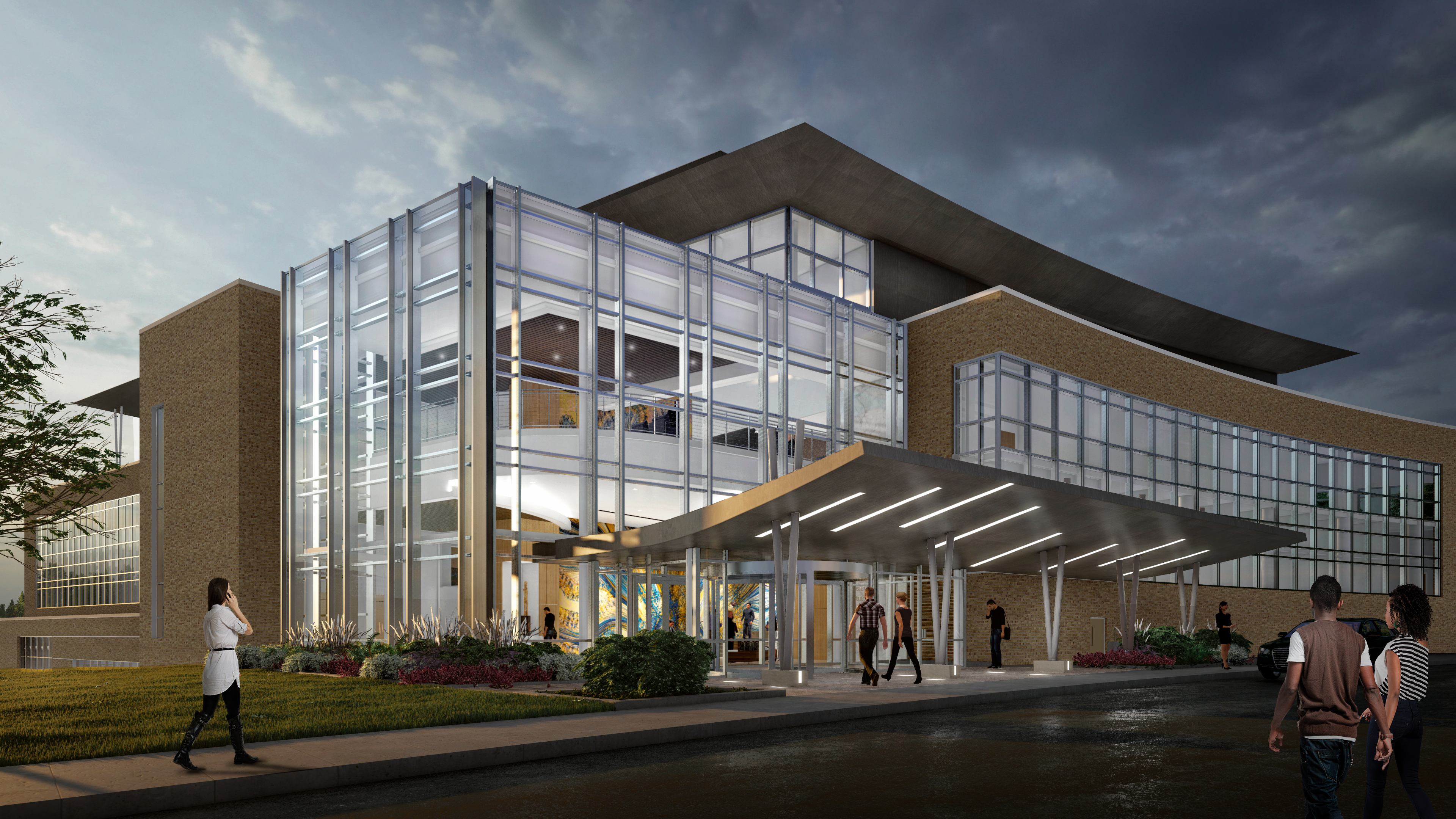 Artist's rendering of the new WVU Rockefeller Neuroscience Institute Innovation Center