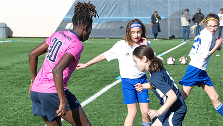 WVU Women's Soccer Holds Kick Cancer 4 by 4 Event on March 8