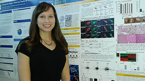 Kristina Marinak, student in Pugacheva Laboratory wins at the 2018 Van Liere poster competition