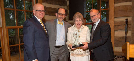 Pam Bakalarski wins Crystal Award for her advocacy of clinical trials research
