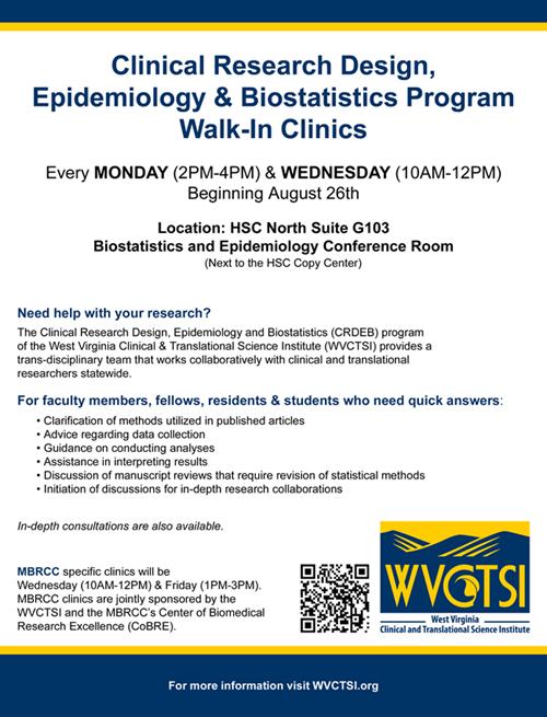 WVCTSI Walk In Clinic Flyer