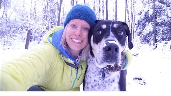 Tressler poses with her dog Zeus.