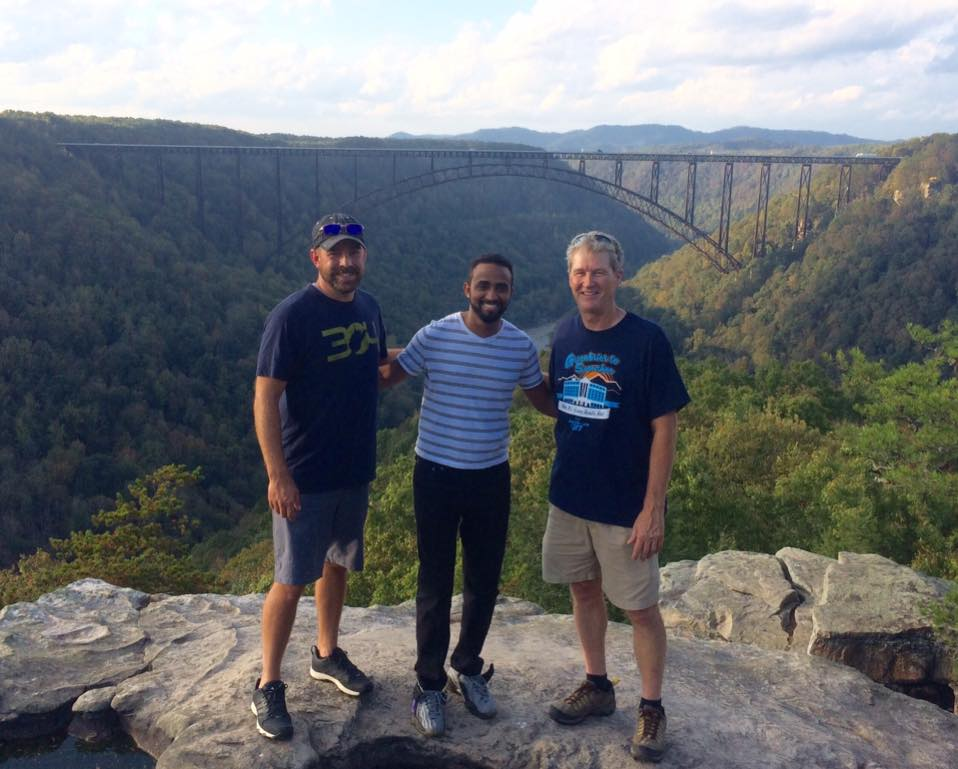 Ermias Semaie visited the New River Gorge Bridge during his rural rotation.