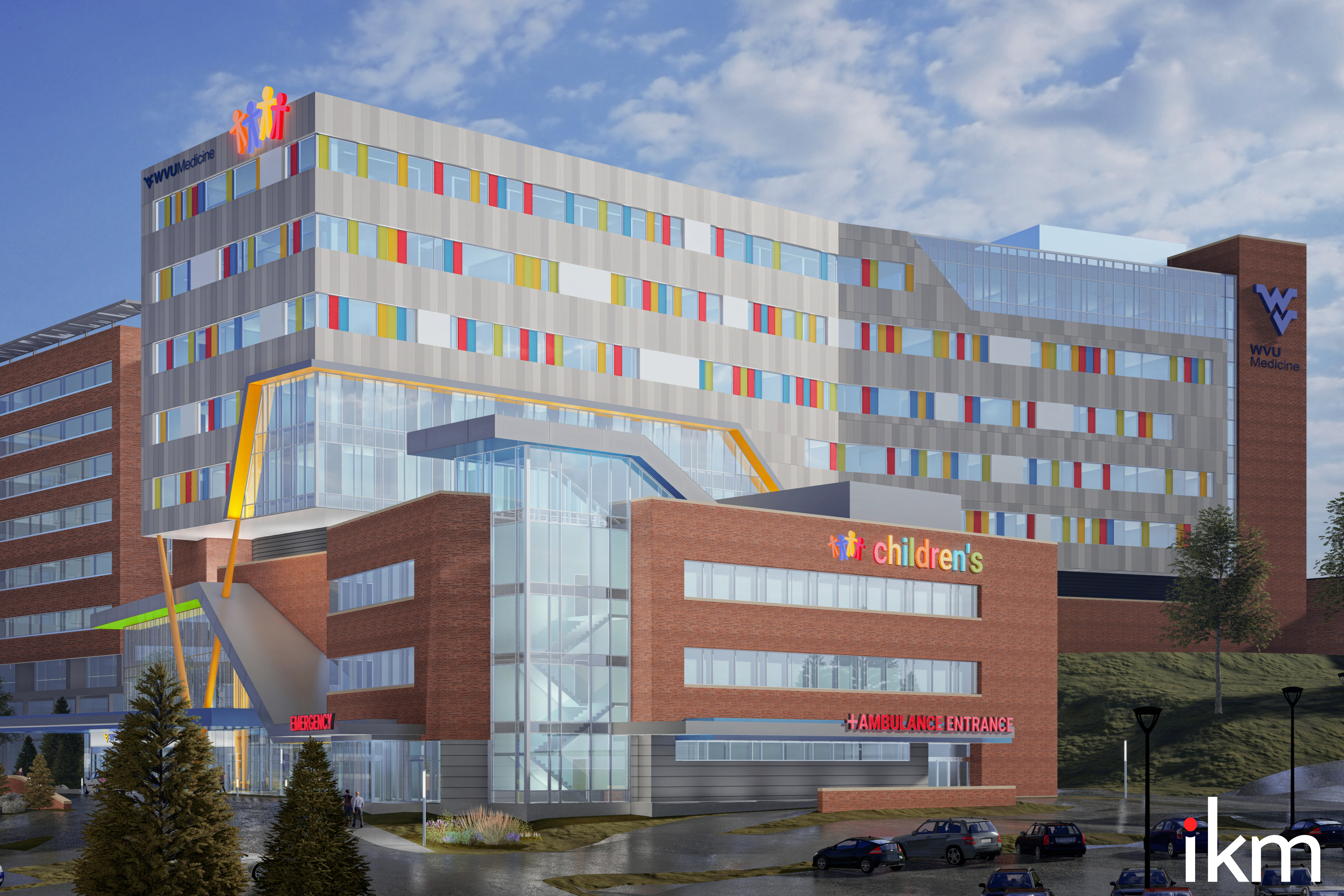 Artist rendering of planned WVU Medicine Children's Hospital in Morgantown.