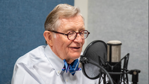 WVU President E. Gordon Gee in the studio.