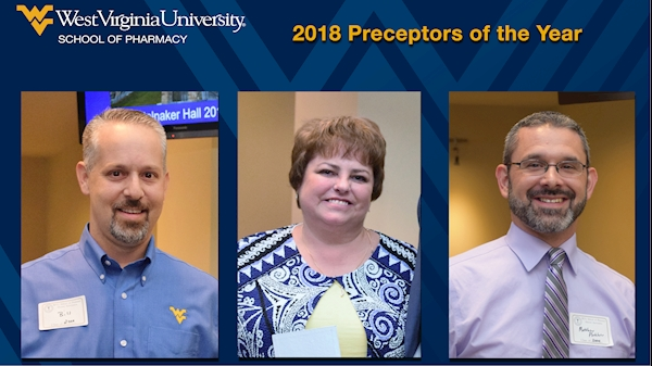 Three West Virginia pharmacists named WVU School of Pharmacy's Preceptor of the Year