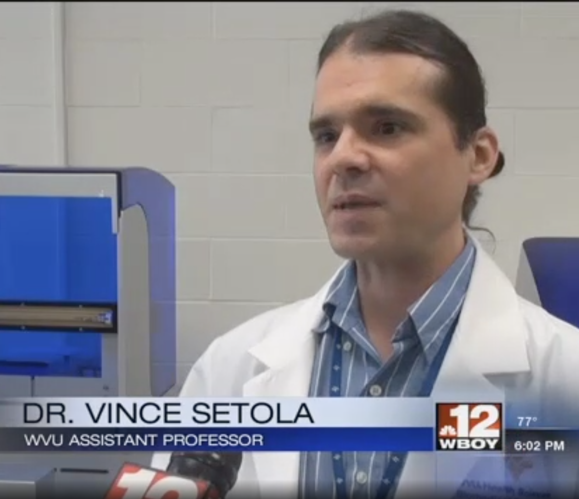 Dr. Vince Setola on WBOY newscast