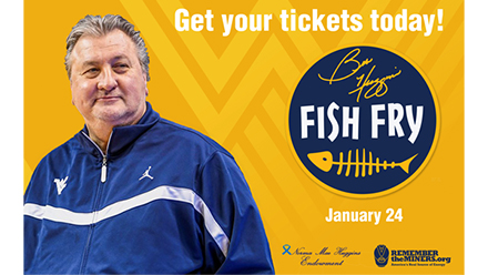Get your tickets today for the 2020 Bob Huggins Fish Fry