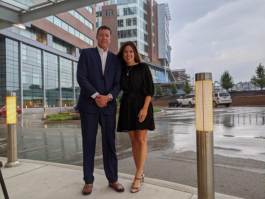 Justin Thompson, CEO of Iron Senergy, LLC and Amy L. Bush, B.S.N., M.B.A., R.N., C.N.O.R., chief operating officer for WVU Medicine Children's