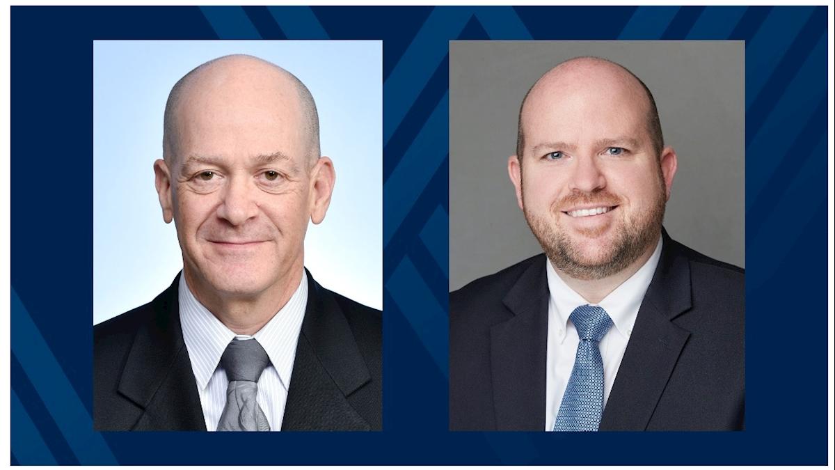 Portrait photos of Dean Jeffrey Coben and Acting Department Chair Erik Carlton