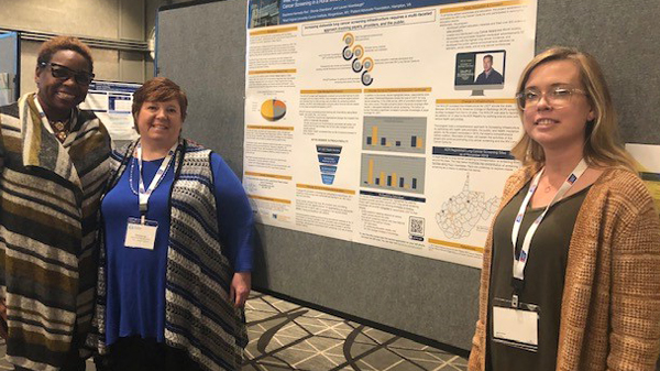 Cancer Prevention and Control  team present poster at National Lung Cancer Roundtable Meeting