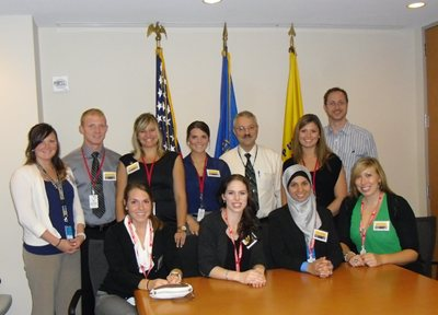 SPH Students With Frank Hearl Chief Of Staff Of NIOSH