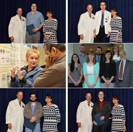 Poster winners from the 2017 Van Liere Research Day at WVU HSC.