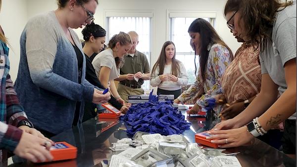 WVU volunteers assemble more than 1,700 Naloxone rescue kits