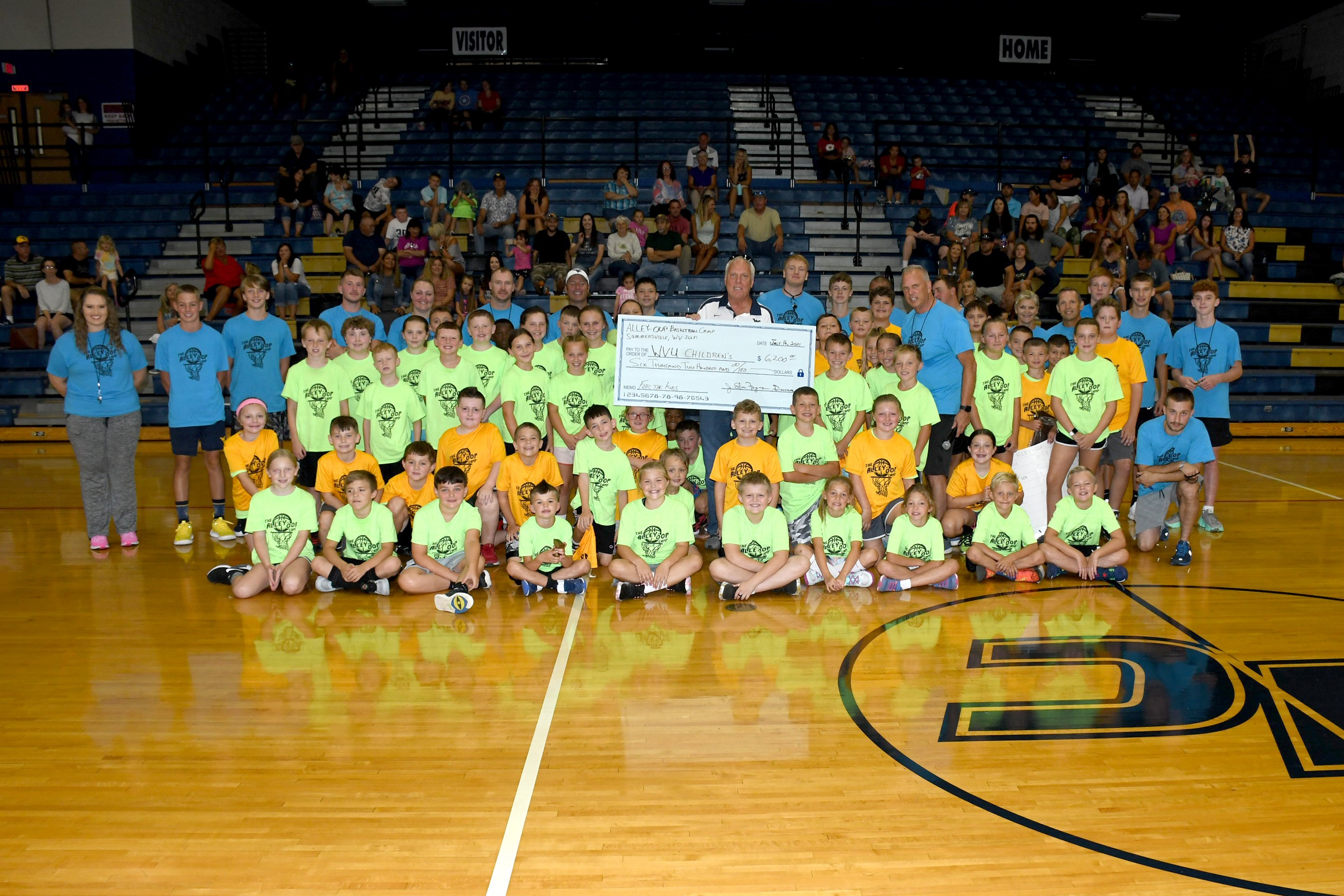 Summerville's Ally Oop Camp raises $62,000 to support WVU Medicine Children's Hospital.