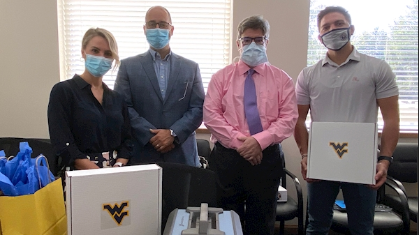 Equipment donation offers non-opioid pain relief for WVU Cancer Institute patients