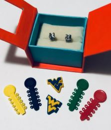 Earrings and charms are among the options for bracketear jewelry.