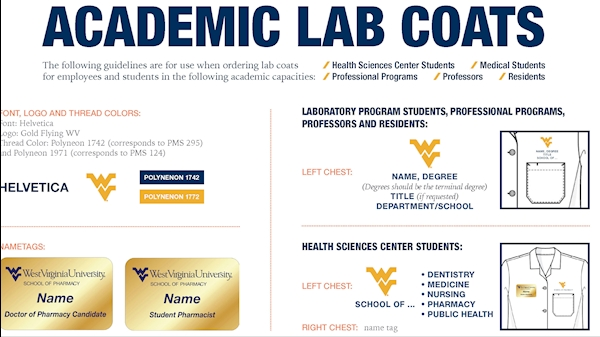 WVU Trademark Licensing updates academic lab coat standards