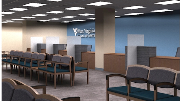 A rendering shows what the Urgent Care waiting room could be.
