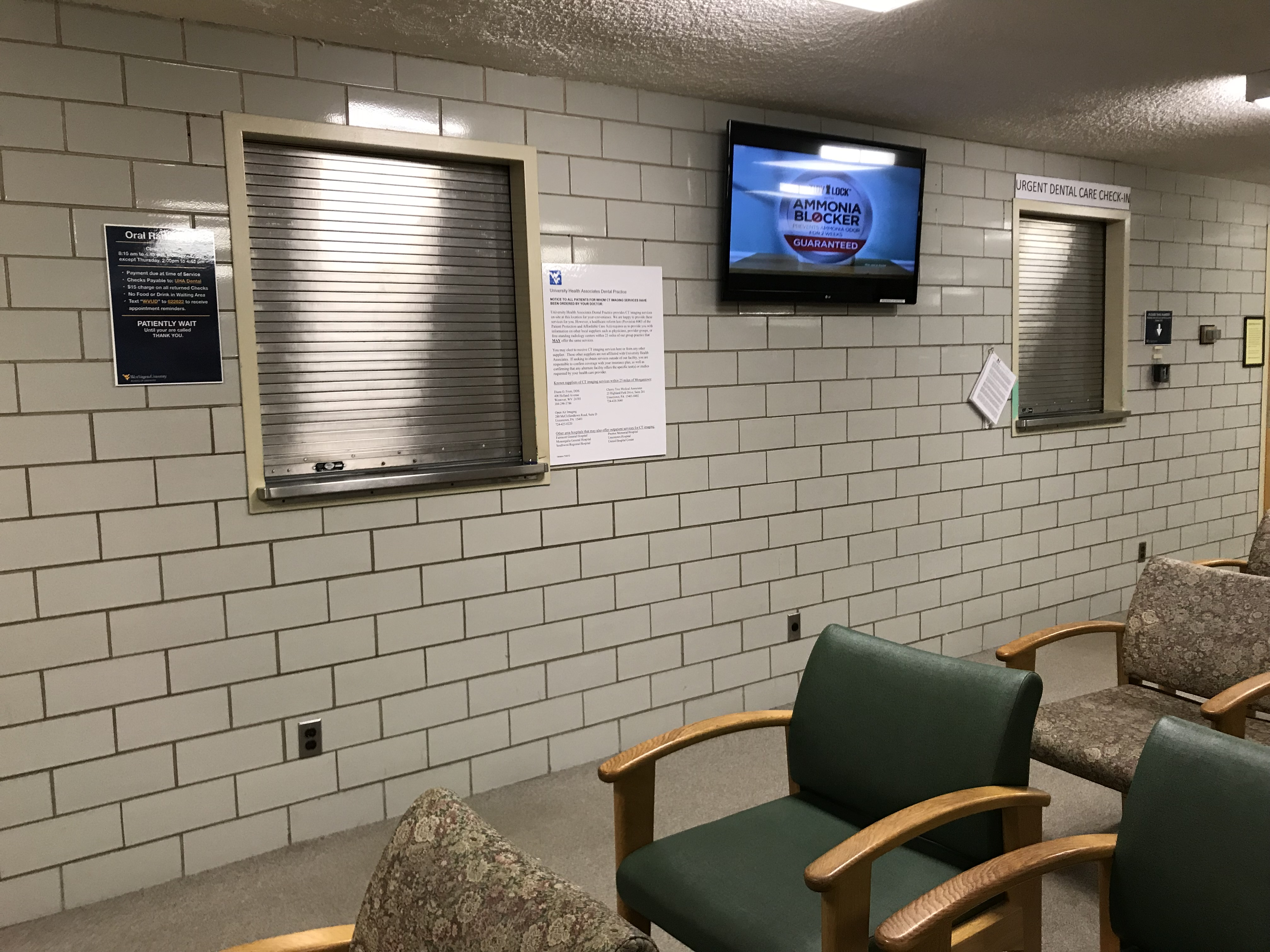 Urgent Care Clinic renovations are part of a larger plan for updates.