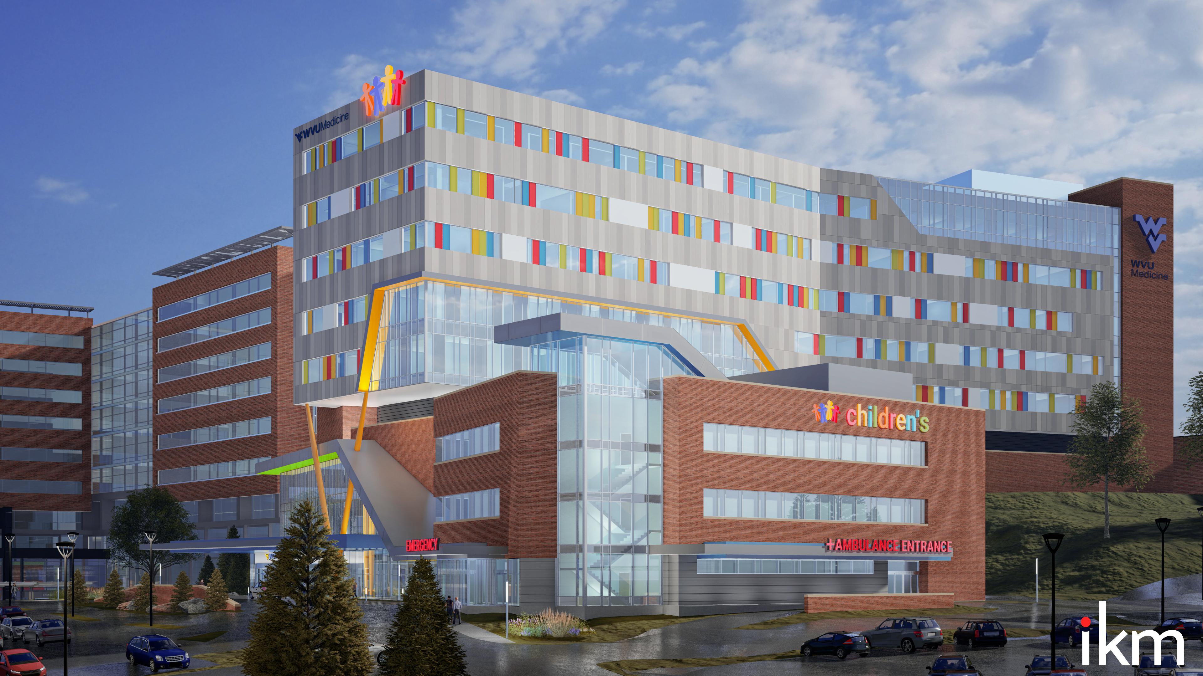 An artist's rendering of the new WVU Medicine Children's Hospital