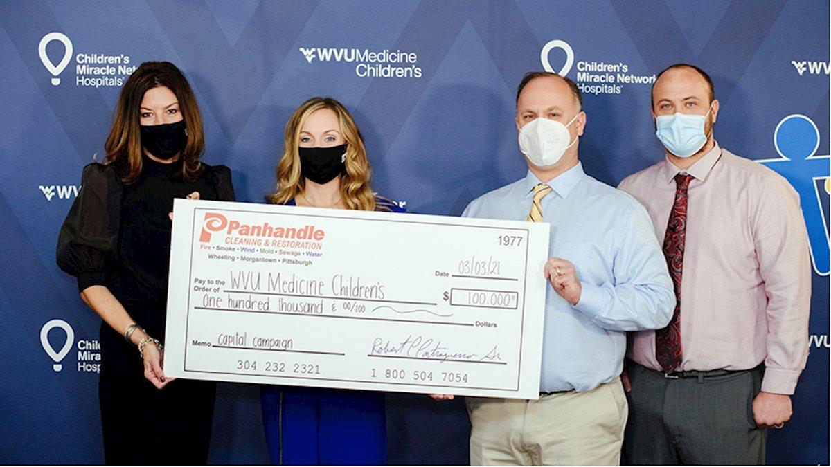 $100K gift to WVU Medicine Children's boosts capital campaign