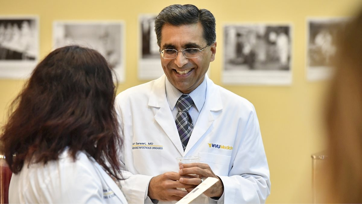 Arif R. Sarwari, M.D., honored as Dr. Edmund B. Flink Chair for the WVU Department of Medicine
