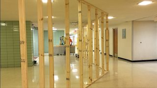 Asbestos abatement underway during HSC Cafe renovation