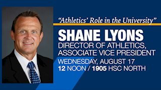 Athletic director to talk with health faculty & students