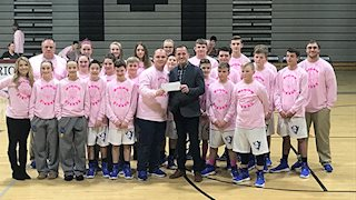 Barrackville Middle School athletes make donation to breast cancer research