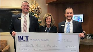 BCT employees support WVU Medicine cancer comfort fund