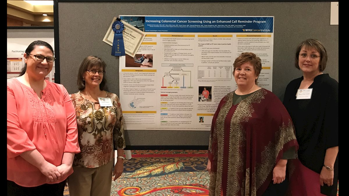 Cancer Institute's Cancer Prevention and Control wins first place ribbons