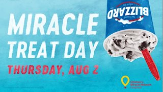 DQ® Blizzard® treat sales help WVU Medicine Children's