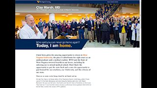 Dr. Clay Marsh comes home to WVU