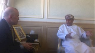 Dr. Clay Marsh meets with Oman health minister