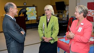 First Lady of West Virginia discusses Infant Safe Sleep Month at WVU Medicine Children's