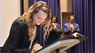 Pledging professionalism and service, future dentists begin classes