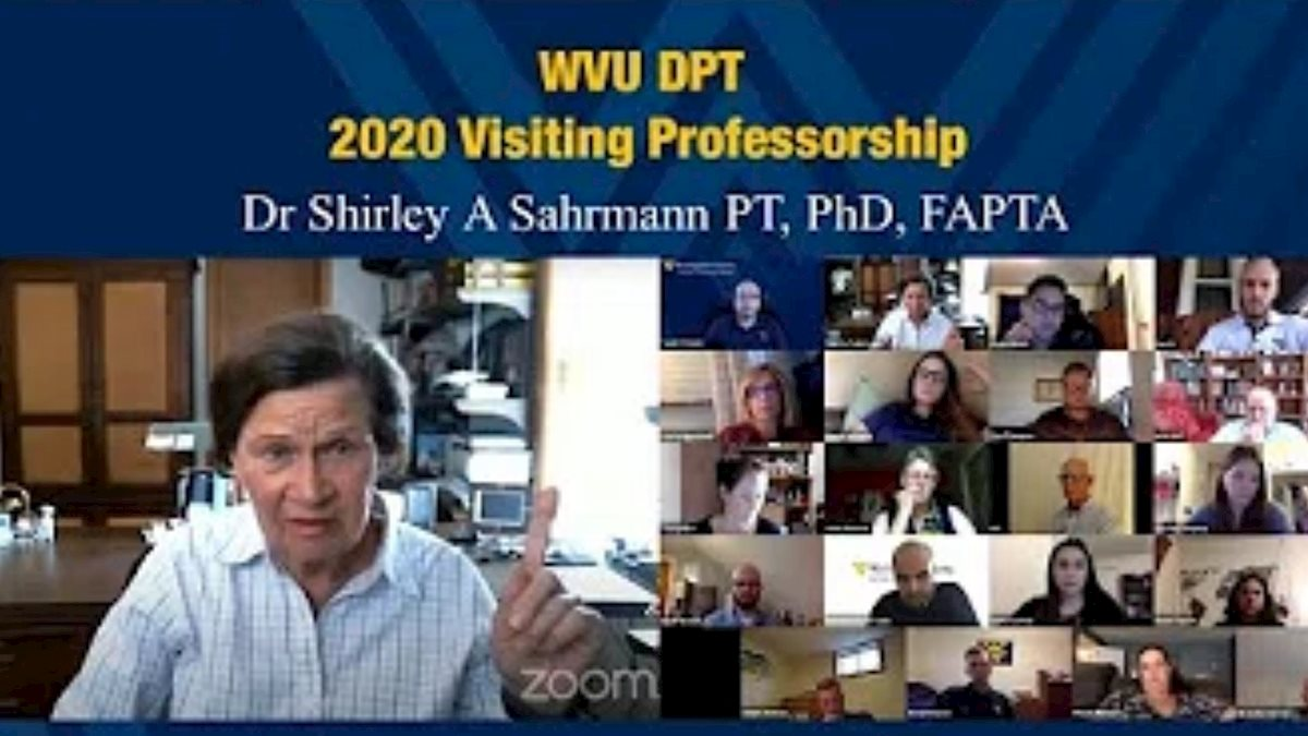 Global leader in physical therapy presents virtual lecture to WVU students and faculty