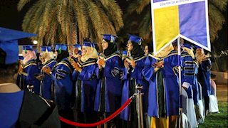 Gold and Blue celebration in Oman
